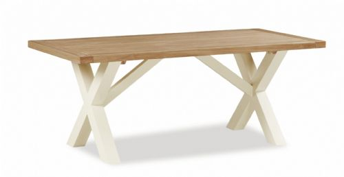 Country Cross Leg Dining Table